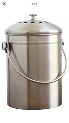 Natural Home Compost Bin Kitchen Stainless Steel Indoor Compost 1.8 Gallon $18.00