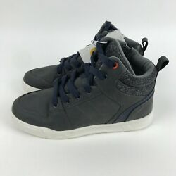 ART CLASS BOYS HIGH TOP SNEAKERS GREY LACE UP KELLEN US SIZE 5 NEW IN BOX $20.94