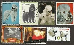 STANDARD POODLE ** Int#x27;l Dog Postage Stamp Art Collection** Great Gift Idea** $8.99