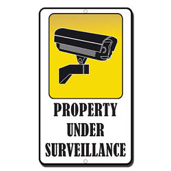 Property Under Surveillance Novelty Funny Metal Sign 8 in x 12 in $14.99