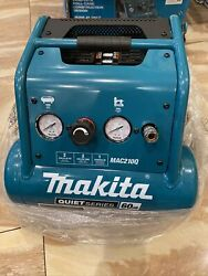 Makita Oil Free Electric Air Compressor Compact Quiet 60Db 1HP 2 Gal Tool Only $258.00