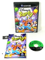Disney#x27;s Party for Nintendo GameCube Complete w Manual amp; OG Case CIB RARE $58.95