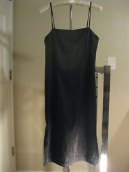 BLACK COCKTAIL DRESS SPAGHETTI STRAP JUNIOR SIZE 7 WITH EMBROIDERED BEADS $12.00