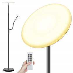 Arzerlize Floor Lamp 30W 2500 Lumens LED Modern Torchiere with Reading Light 3 $67.44