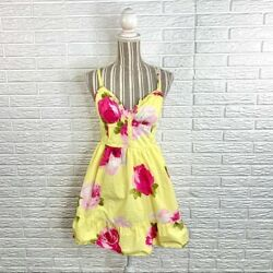 Abercrombie amp; Fitch Yellow Floral Sun Dress Size Medium $19.00