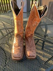 Justin full quill ostrich boots 9D $300.00