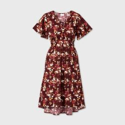 Ingrid amp; Isabel Maternity Floral Dress Medium $7.95