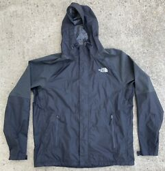 THE NORTH FACE Black Dryvent Hooded Rain Shell Stow Jacket * Men's Size Large $49.95