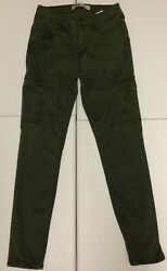 Old Navy High Waisted Sateen Rockstar Super Skinny Cargo Pants Green Size 6 $17.99
