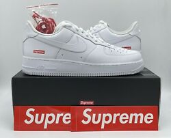 Nike Air Force 1 Low Supreme White Size 10.5 Style CU9225 100 Authentic DS $179.95