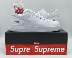 Nike Air Force 1 Low Supreme White Size 12 Style CU9225 100 Authentic DS $179.95
