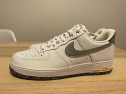 NEW MEN#x27;S NIKE AIR FORCE 1 CASUAL SHOES CRATER GRIND WHITE Size 10.5 DA4676 100 $100.00