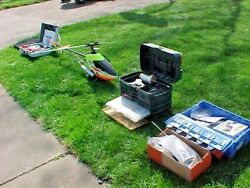FUREY R C Gas Remote Control Helicopter Gasoline Power amp; Radio amp; Lots of Extras $395.00