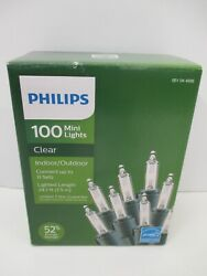 Philips 100 Clear Mini Lights Indoor Outdoor 24.7 Lighted Length Green Strand $6.99