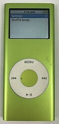 Apple iPod nano 2nd Generation Green 4 GB Very Nice Condition 90 DAY WARRANTY $19.98