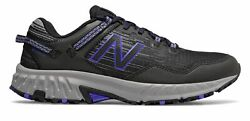 New Balance Men#x27;s 410v6 Trail Shoes Black with Blue