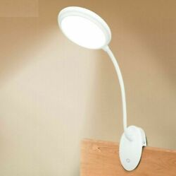 LED Table Clip Lamp Rechargeable Can Flexible Suit for Bedroom Reading Studying $31.34