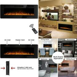 Waleaf 36 Inch Electric Fireplace Recessed And Mounted Built In Wall Fireplace $362.68