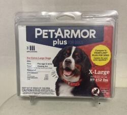 PET ARMOR PLUS for XL Dogs 89 132 lbs. 3 Applications Sealed $16.95