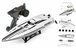 RC Brushless High Speed Boat Large Racing Remote Control Boat Off whiteblack $301.35
