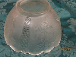 Gas light shade Frosted paneled floral 7quot; $11.00