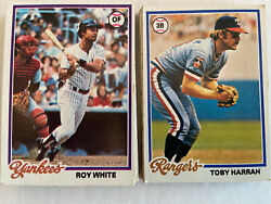 1978 TOPPS BASE #1 250 BASEBALL CARDS YOU PICK COMPLETE YOUR SET SINGLES $0.99