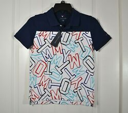 NWT BOYS YOUTH TOMMY HILFIGER WHITE POLO SHORT SLEEVE COLLAR BUTTON SZ M XL $22.25