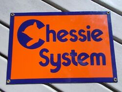 CHESSIE SYSTEM Porcelain Over Metal Sign $34.95