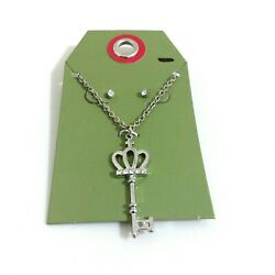 Target Silver Crown Key Necklace amp; Earring Set New $11.97