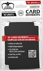 Card Dividers 10ct Black Ultimate Guard GAMING SUPPLY BRAND NEW ABUGames $1.99