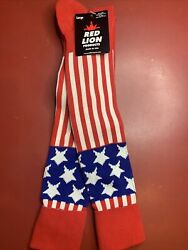 American Flag Striped Star Socks Athletic Multisport Knee High Size L $6.99