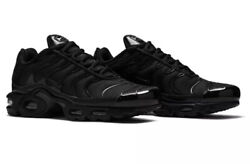 Nike Air Max Plus Triple Black Casual Shoes Men#x27;s Sizes 8 13 604133 050
