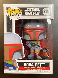FUNKO POP STAR WARS BOBA FETT VINTAGE #297 SPECIAL EDITION EXCLUSIVE IN HAND $89.99