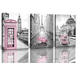 Paris Eiffel Tower Decor for Bedroom for Girls Pink Paris Theme Room Decor Wall $48.13