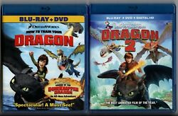 HOW TO TRAIN YOUR DRAGON amp; HOW TO TRAIN YOUR DRAGON 2 blu ray amp; DVD combo packs $18.99