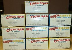 The Great Circus Train 10 Wagon Car Model Kits by Walthers American Circus $125.00
