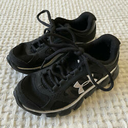 Under Armour Assert V Running Shoes Kids Boys Size 11 Black Lace Up 1252326 002 $24.95