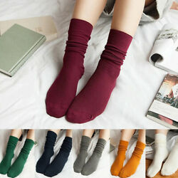 1pair Women Socks Autumn Winter Ankle Socks Casual Soft Cotton Stockings Solid $1.99
