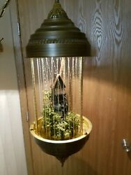 Exceptional 1970#x27;s Vintage GRISTMILL RARE LARGE 36quot; Hanging Oil Rain Lamp $410.00