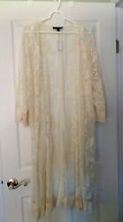 Komono Lace Cover Up for Dress or Beach Lane Bryant NWT Ivory $24.00