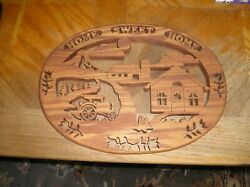 Home Sweet Home Rustic Country Crafted Wood Wall Plaque Amazing Home Accent $45.00