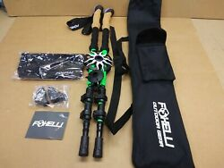 Foxelli Aluminum 7075 Trekking Poles With Cork Grips– Collapsible Lightweight $43.99