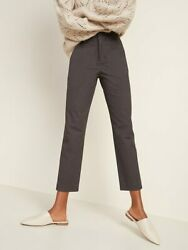 CLEARANCE SALE New Old Navy High Waisted Pixie Straight Ankle Pant Gray 12 Tall $7.00