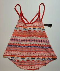 NOBO No Boundaries Jr#x27;s Tank Top w Braided Strap Festival Boho S M L XL NEW FAST $12.95