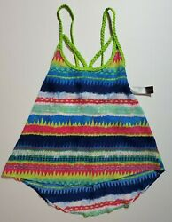 NOBO No Boundaries Jr#x27;s Tank Top w Braided Strap Festival Boho M L XL NEW FAST $12.95