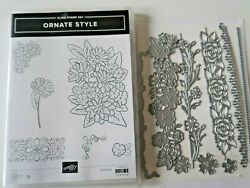 Stampin#x27; Up Ornate Style with Coordinating Ornate Borders Dies $34.99