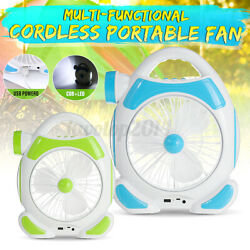 2 IN 1 Portable Mini Cordless Desk Table Camping Fan Rechargeable With LED Light $27.20