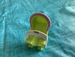 Fisher Price Loving Family Bouncy Chair Bouncer Baby Seat High Green Pink Doll $4.00