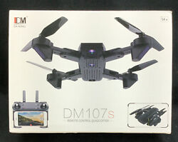 Cooligg DM107 Quadcopter Drone With HD Camera Selfie 2MP WiFi FPV Foldable RC $64.99