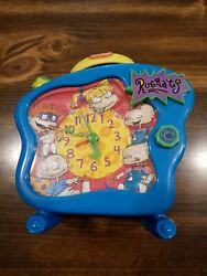 Nickelodeon Rugrats Talking Alarm Clock 1998 RARE Works Tommy Angelica VTG 90s $34.99